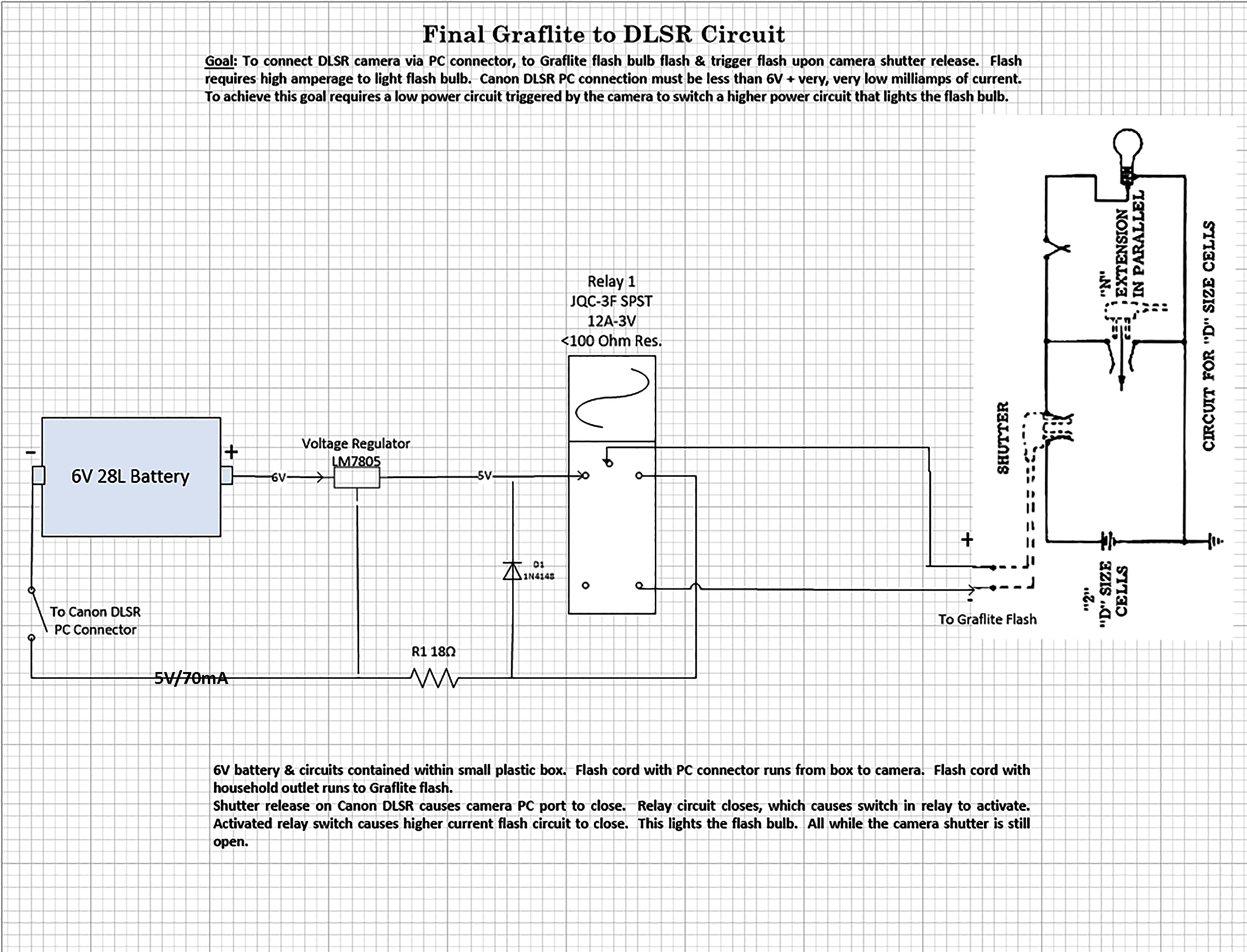 View Topic Graphlite Flash Trigger Voltage Relay Circuit Design Please Let Me Know If You See Any Discrepancies In My I Want To Be Absolutely Sure That This Will Protect Dlsr